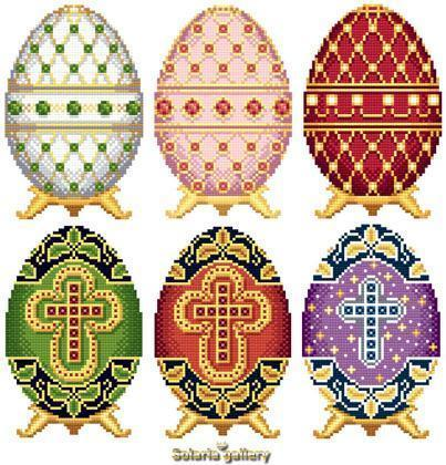 Easter eggs in faberge style collection 1 1453