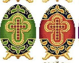 Easter Eggs Faberge Style Collection I cross stitch chart Solaria Designs