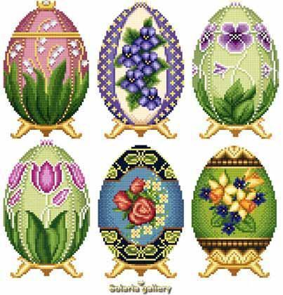 Easter eggs in faberge style collection i1 1455
