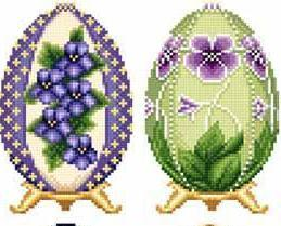 Easter Eggs Faberge Style Collection II cross stitch chart Solaria Designs