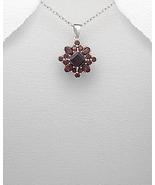 Silver Pendant with Garnet Gemstones - $39.95