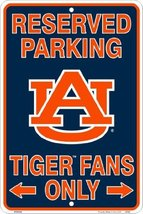 Auburn Tigers Fans Parking Only Metal Sign 8 x ... - $5.93
