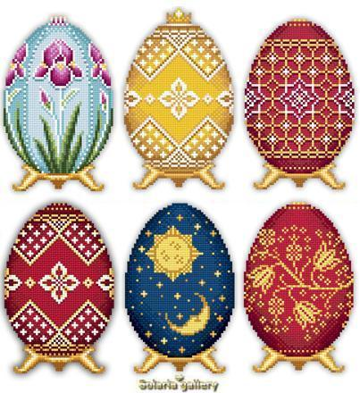 Easter eggs in faberge style collection ii1 2323