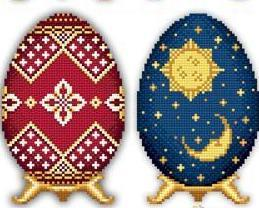 Easter Eggs Faberge Style Collection III cross stitch chart Solaria Designs