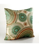 ElleWeiDeco Openwork Embroidery Turquoise Throw Pillow Cover (One Side) - $9.99