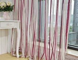 ElleWeiDeco Decorative Modern Chenille Stripe Sheer Window Curtain/drape... - $19.99
