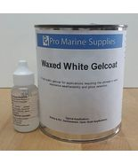 White Gelcoat With Wax and Hardener kit - Quart, Fiberglass Boat Polyester - $41.99