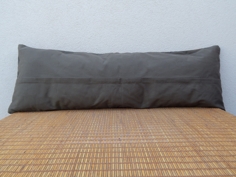 Long Pillows For Bed 16 X 48 Black Bohemian Bedding Kilim