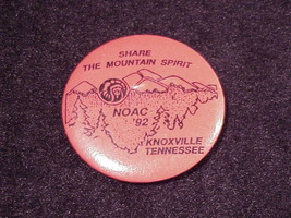 1992 NOAC Boy Scout Knoxville, Tennessee Pinback Button, National Order ... - $5.50