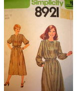 Factory Folded - Simplicity 8924  Miss Size 12   Pullover Dress or Top w... - $3.99