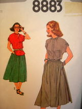 Simplicity Sewing Pattern 8883 ~ Miss 12 ~ Skirt and Blouse ~ FF - $3.99
