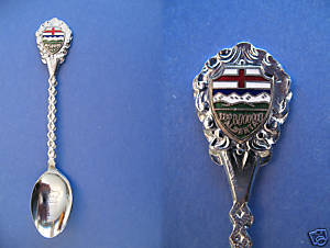 Primary image for RIMBEY ALBERTA Souvenir Collector Spoon VINTAGE Collectible FLAG
