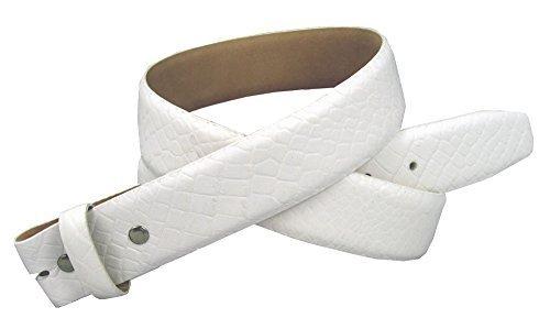 """38MM Genuine Italian Calf Skin Alligator Embossed Belt Strap 1.5"""" White 32 - $29.20"""