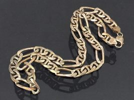 Vintage Italian Sterling Silver FIGARO Link Chain Necklace 20 1/2'' Length - $255.00