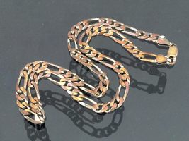 Vintage Italian Sterling Silver Figaro Link Chain Necklace 16 1/2'' Length - $90.00