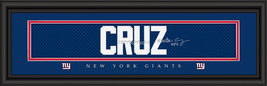 Victor Cruz New York Giants Player Signature Stitched Jersey Framed Print - $39.95