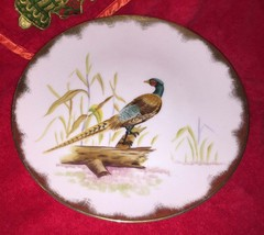 Lefton China Hand Painted E2170 Ring-Necked Pheasant Hanging Plate - $34.99