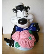 1998 Looney Tunes Exclusive Pepe le Pew and Penelope the Cat Cookie Jar  - $150.00