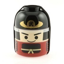 NEW Samurai Cartoon Bento Lunch Box Set - Two Tiers - $26.41