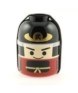 NEW Samurai Cartoon Bento Lunch Box Set - Two Tiers - £19.81 GBP