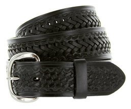 Genuine Leather Western Basketweave Interlacing Criss-Cross Casual Jean Belt ... - $28.65