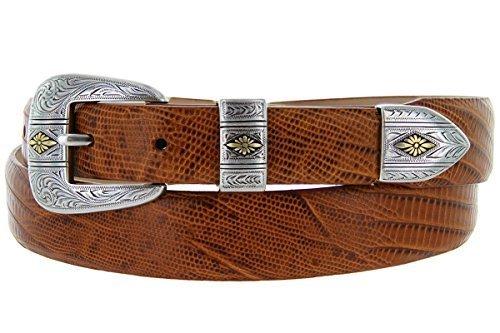 Mesa Gold - Men's Italian Calfskin Designer Dress Golf Belt with Western Silv... - $29.20