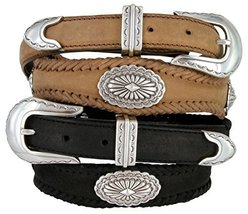 Arizona Southwestern Conchos Western Leather Scalloped Belt Brown 60 [Apparel] - $45.48