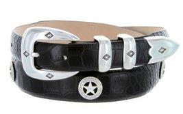 Presidential Silver Star Western Golf Concho Italian Calfskin Leather Dress B... - $39.55