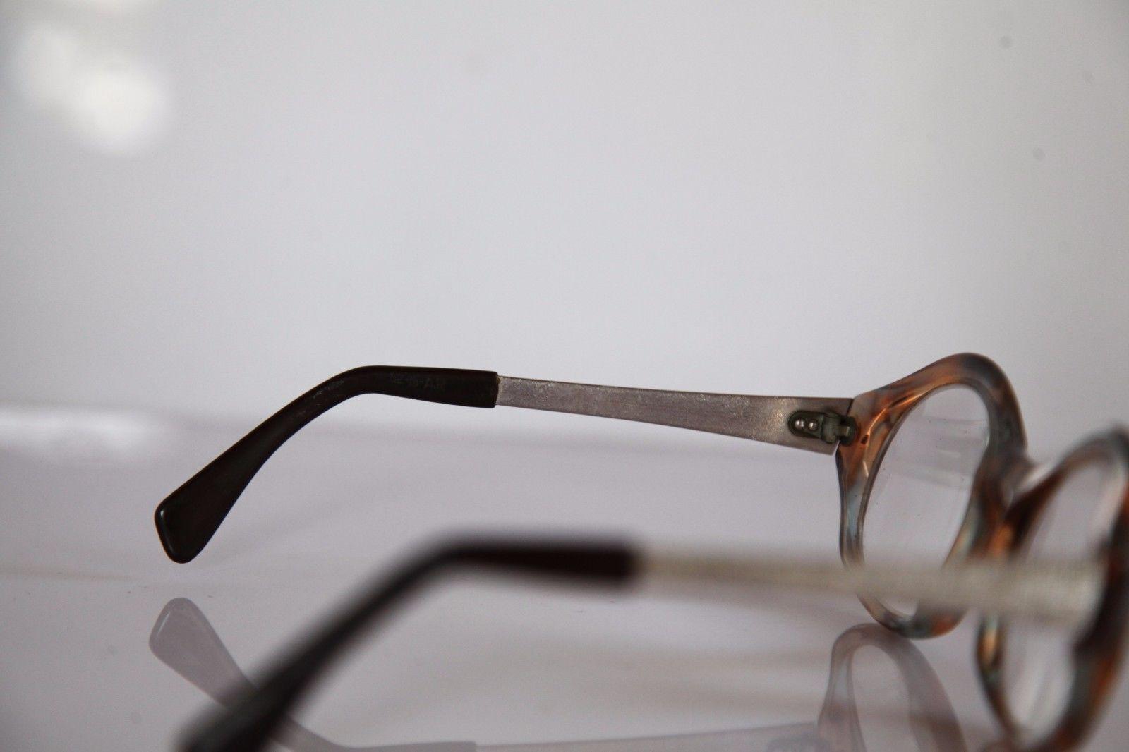 HAMPEL Eyewear, Crystal Brown Frame, Silver, RX-Able Prescription Lenses.
