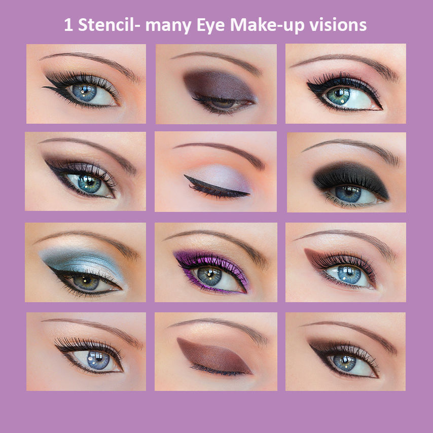 Quick Makeup Stencils - Cosmetic Tool for Applying Eyeliner and Eye Shadow CA1