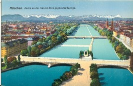 Germany, Munich, Munchen, Partie an der Isar mit Blick gegen das Gebirge  - $7.99