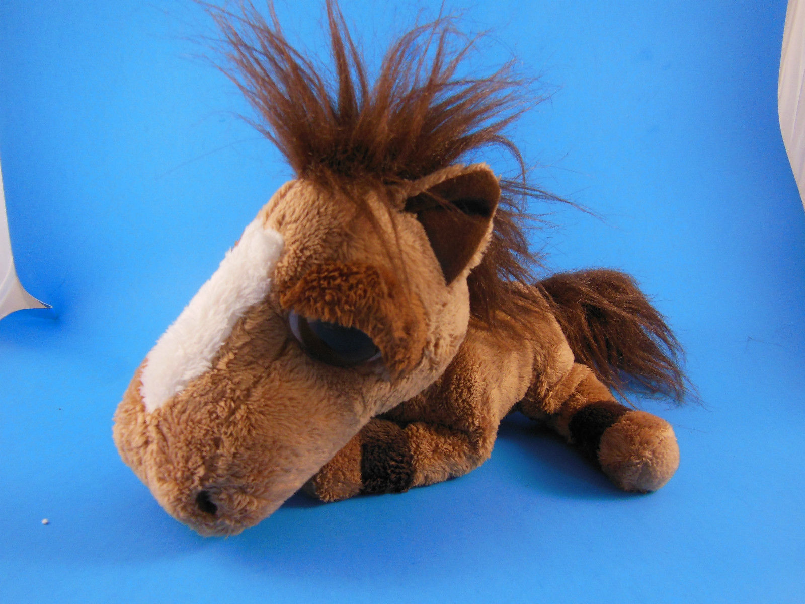 "Primary image for Russ Berrie Plush JUMBALAYA HORSE PONY with Large Big Eyes Vintage 8' X9"" + tail"