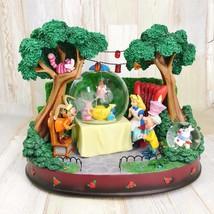Alice Neige Globe Disney Enchères Monde 500 Limitée Dôme Figurine Cheshi... - $1,144.08