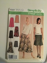 Simplicity Sewing Pattern 4881 2 Hr. Skirt 14 16 18 20  New Package Wear  - $8.66