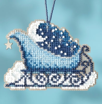 Celestial Sleigh 2017 Charmed Sleigh Ride Ornaments cross stitch kit  Mill Hil