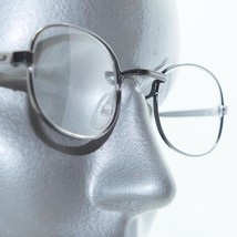 Vintage Style Square Bridge Reading Glasses Shiny Gray Metal Frame +1.50... - $22.00