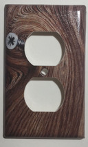 Screw on the Wood Light Switch Power Outlet Cover Plate Toggle Rocker Home decor image 2