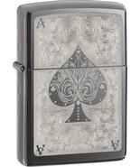 Zippo Lighter: Ace Filigree Black Ice  - $42.00