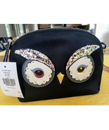 kate spade Owl Small Marcy Star Bright Black Cosmetic Bag Pouch WLRU5155... - $44.95
