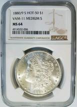1880/9 S Morgan Silver Dollar NGC MS 64 Vam 11 0/9 Overdate Medium S Var... - $214.99