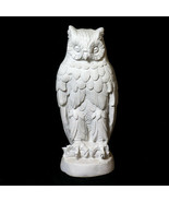 "Owl Bird Statue Sculpture 23"" replica in white finish - $117.81"