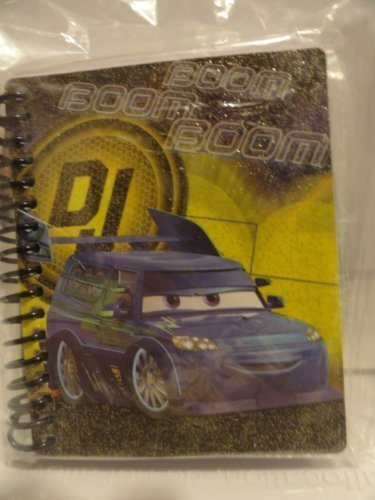 Cars Boom Boom Boom Glitter Spiral Journal - 120 Sheets