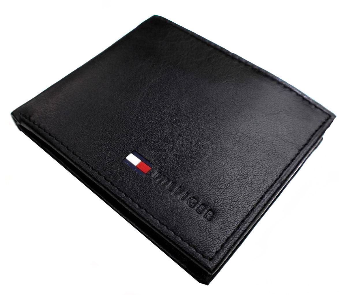New Tommy Hilfiger Men's Leather Credit Card ID Passcase Wallet Black 31TL22X060 image 2