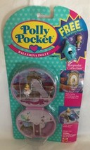 Vintage Polly Pocket Ballerina Polly Compact W/ Bath Float & Xtra Doll NEW - $143.54