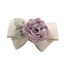 Artificial Rose Flower Cloth Hair Pin Handmade Bowknot Ponytail Barrette... - $12.65