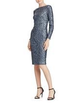 NWT Lauren Ralph Lauren Sequin Scoop-Back Lavender  Blue Dress size 0 $220 - $59.99