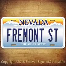 Fremont St Las Vegas Nevada Vanity Aluminum License Plate Tag - $12.82