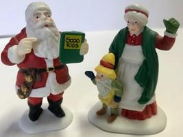 Dept 56 North Pole Series SANTA & MRS CLAUS Set 2 Figurines #56090 Retir... - $19.94