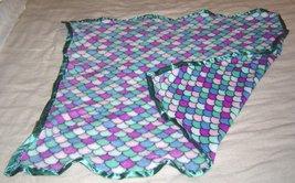 New Sew Lush Fleece Minky Mermaid Tail Baby Blanket Handmade Purple Turquoise - $24.99