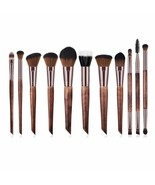 BBL® 11pcs/Lot Coffee Makeup Brushes Premium Makeup Brush Set Professional - $25.14
